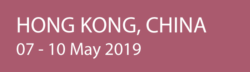Hong Kong, China, 07 - 10 May 2019